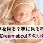 dream aboutの使い方 夢を見る以外の意味